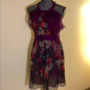 ECI New York Floral Dress (size 4)